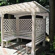Деревянная беседка для сада,дачи,участка концепт фото