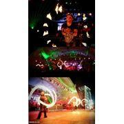 Огненное электросветовое шоу фото