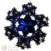 Фигура Снежинка №2 фольга синяя 90 см. фото