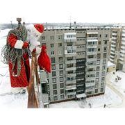 Дед Мороз в окно фото