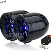 Аудиосистема MT-483 на мотоцикл с сигнализацией, MP3, FM, USB, SD, цвет - черный, новая Портативная аудиосистема на мотоцикл, скутер, квадроцикл и прочее фото