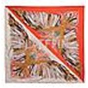 1605 Платок-косынка 2-х сторонняя (оранжевый+бежевый) фото