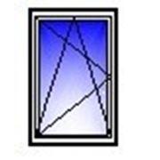 Окно ПВХ одностворчатое 1000х1400 (кирпич, п/о) фото