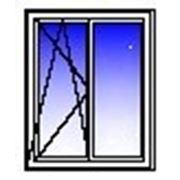Окно ПВХ двухстворчатое 1350х1400 (кирпич, п/о+гл) фото
