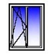 Окно ПВХ двухстворчатое 1200х1400 (панель, п/о+гл) фото