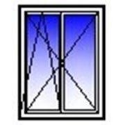 Окно ПВХ двухстворчатое 1200х1400 (кирпич, п+п/о) фото
