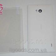 Крышка задняя белая для Nokia Lumia 930 + ПЛЕНКА В ПОДАРОК 4708 фото