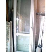 Дверь балконная с коробкой 72х217 из новостройки в минске (о.