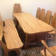 Набор столовой мебели из массива карагача Сказка фото