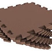 Мягкий пол универсальный 33х33см, коричневый, 1кв.м (Экополимеры) фото