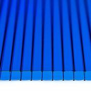 Поликарбонат сотовый 12000х2100х6 синий фото