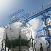 Монтаж шаровых резервуаров для хранения нефтепродуктов фото