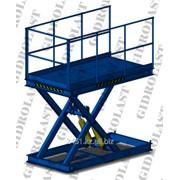 Стол подъемный гидравлический одноножничный Gidrolast 1X1500.1000.7000.840 фото