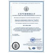 Сертификат ISO 9001 фото