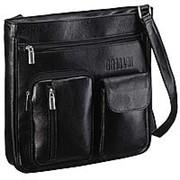 Кожаная сумка через плечо BRIALDI Chester (Честер) black фото