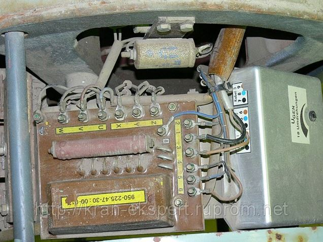 электросхема крана рдк 250-2