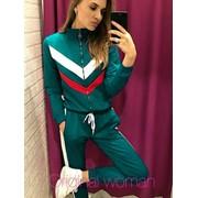 Женский спортивный костюм с цветными вставками в расцветках. НВ-4-0818 фото