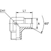 Угловой адаптер 90° Резьба BSP фото