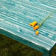 Стол из дерева под старину Лесная поляна фото