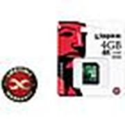 Карта памяти SDHC Kingston SD10V/ 10class 4 GB фото