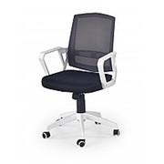 Кресло компьютерное Halmar ASCOT (бело-черный) фото