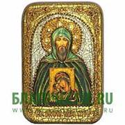 Олд Модерн Игорь, святой благоверный князь, копия писанной иконы ручной работы под старину Высота иконы 15 см фото