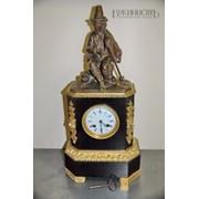 Старинные антикварные каминные часы фото