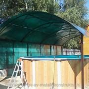 Навес для бассейна 4х8 фото