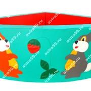 Сухой бассейн угловой с аппликацией 1.2х1.2м. Н50см. S10см. (без шаров)