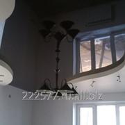 Натяжной потолок с карманом под подсветку фото