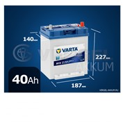 Батарея Varta Blue Dynamic 40Ah A13 фото