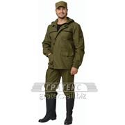 Куртка-штормовка Гео, тк.палаточная, цв.хаки фото