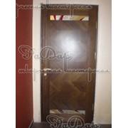 Декор дверного полотна, фьюзинг (плавленное стекло) фото