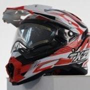 ТНН Снегоходный шлем с электро-стеклом TX-27 wait/red фото