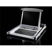 Рабочая консоль монитор-клавиатура фото
