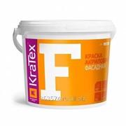 Краска ВД фасадная Kratex акриловая 1,5кг (F) фото