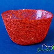 Корзина Диффенбахия ярко-оранжевая из сизаля 8*17 фото
