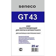 Клей быстротвердеющий для плитки и керамогранита Seneco GT43. фото