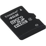 4Gb Kingston карта памяти microSDHC, Class 4, SDC4/4GBSP