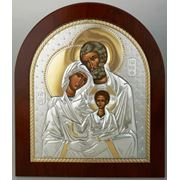 Греческая ювелирная икона Святое Семейство фото