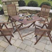 Прокат столов деревянных 120*70 см, Аренда удобной садовой мебели фото