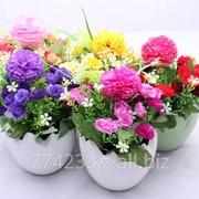 Искусственные цветы в горшках фото