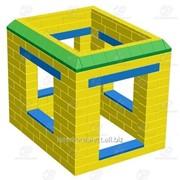Домик средний GigaBloks желтый фото