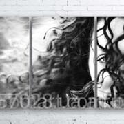 Модульна картина на полотні Незнайомка код КМ100180-234-MIL фото