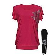 Летний костюм Маринка - футболка-туника + капри-затяжки фото