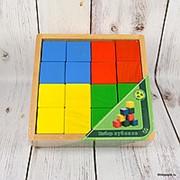 """Деревянные кубики """"4 цвета"""", 16 элементов фото"""