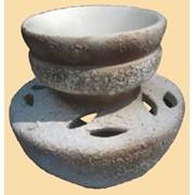 Аромалампа керамическая Юля шамот фото