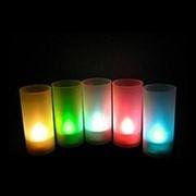 Светодиодная свеча LED Candle в стакане фото