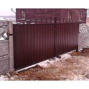Ворота въездные из металлопрофиля любых размеров