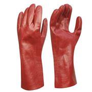 Перчатки резиновые красные фото